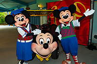 Minnie Mouse and Mickey Mouse, Fantasia Gardens Pavilion, Walt Disney World, Orlando, Florida USA