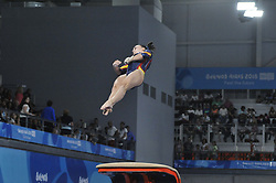 October 9, 2018 - Buenos Aires, Buenos Aires, Argentina - ALBA PETISCO of Spain competes during the Women's Vault Qualification on Day 2 of the Buenos Aires 2018 Youth Olympic Games at the Olympic Park. (Credit Image: © Patricio Murphy/ZUMA Wire)
