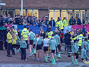 Greater London. United Kingdom, 164th. Men's  University Boat Race Cambridge University celebrate with Goldie, the reserve crew after winning the 164th. Men's  University Boat Race University Putney to Mortlake,  Championship Course, River Thames, London. <br /> <br /> Saturday  24/03/2018<br /> <br /> [Mandatory Credit:Intersport Images]