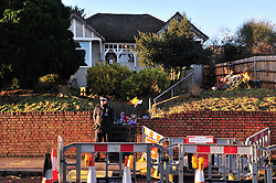 © Licensed to London News Pictures. 07/01/2016<br />   Home of murdered Sian Blake.<br /> <br /> Ex-Eastenders actress Sian Blake's home in Erith,Kent has turned into a crime scene (07.01.2016) with officers from the Met's Homicide and Major Crime Command leading the murder investigation.<br /> <br /> (Byline:Grant Falvey/LNP)