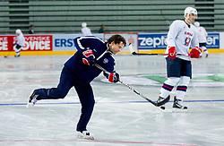 Gaber Glavic during practice session of Slovenian National Ice Hockey team first time in Arena Stozice before 2012 IIHF World Championship DIV I Group A in Slovenia, on April 13, 2012, in Arena Stozice, Ljubljana, Slovenia. (Photo by Vid Ponikvar / Sportida.com)