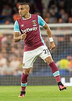 Football - 2016/2017 Premier League - Chelsea V West Ham United. <br /> <br /> Dimitri Payet of West Ham at Stamford Bridge.<br /> <br /> COLORSPORT/DANIEL BEARHAM