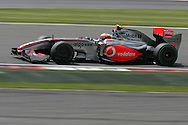 2009 Formula 1 Santander British Grand Prix at Silverstone in Northants, Great Britain. action from Friday practice on 19th June 2009. Heikki Kovalainen of Finland drives his McLaren Mercedes F1 car..