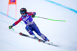 17.01.2018, Olympia delle Tofane, Cortina d Ampezzo, ITA, FIS Weltcup Ski Alpin, Abfahrt, Damen, 1. Training, im Bild Stacey Cook (USA) // Stacey Cook of the USA in action during the 1st practice run of ladie' s downhill of the Cortina FIS Ski Alpine World Cup at the Olympia delle Tofane course in Cortina d Ampezzo, Italy on 2015/01/17. EXPA Pictures © 2018, PhotoCredit: EXPA/ Dominik Angerer