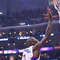 21 April 2014: Los Angeles Clippers guard Jamal Crawford (11) goes for the layup at the buzzer during the Los Angeles Clippers 138-98 victory over the Golden State Warriors, during Game Two of the Western Conference Quarterfinals of the NBA Playoffs, at the Staples Center, Los Angeles, California, USA.