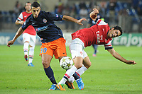 FOOTBALL - UEFA CHAMPIONS LEAGUE 2012/2013 - GROUP STAGE - GROUP B - MONTPELLIER HSC v ARSENAL - 18/09/2012 - PHOTO SYLVAIN THOMAS / DPPI - YOUNES BELHANDA (MHSC) / MIKEL ARTETA (ARS)