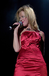 """""""Happy Birthday"""" and Gregorys Girl Claire Grogan of Altered Images on Tour with<br /><br />Steve Starnge (Visage)<br />The Belle Stars<br />Dollar<br />Kim Wilde<br />The Human League<br />Play on the Here and Now  Christmas Party Tour at Sheffields Hallam FM Arena Friday 13th December 2002<br /><br />[#Beginning of Shooting Data Section]<br />Nikon D1 <br />2002/12/13 20:54:15.3<br />JPEG (8-bit) Fine<br />Image Size:  2000 x 1312<br />Color<br />Lens: 80-200mm f/2.8-2.8<br />Focal Length: 80mm<br />Exposure Mode: Manual<br />Metering Mode: Spot<br />1/200 sec - f/2.8<br />Exposure Comp.: 0 EV<br />Sensitivity: ISO 800<br />White Balance: Auto<br />AF Mode: AF-S<br />Tone Comp: Normal<br />Flash Sync Mode: Not Attached<br />Color Mode: <br />Hue Adjustment: <br />Sharpening: Normal<br />Noise Reduction: <br />Image Comment: <br />[#End of Shooting Data Section]"""