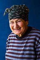 Georgie, Svanetie, la Haute Svanetie, Ushguli, village le plus haut de l'Europe, portrait d'une habitante // Georgia, Svaneti, Ushguli, woman from Ushguli