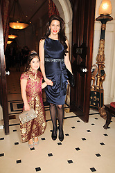 CHRISTINA ESTRADA JUFFALI and her daughter SIRINA JUFFALI at a reception hosted by Films Without Borders at the Lanesborough Hotel, Hyde Park Corner, London on 27th October 2010.