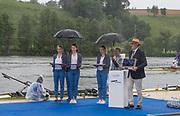 Lucerne, SWITZERLAND.<br /> <br /> Medals party. Finals day. 2016 FISA WCII. Lake Rotsee<br /> <br /> Sunday  29/05/2016<br /> <br /> [Mandatory Credit; Peter SPURRIER/Intersport-images]
