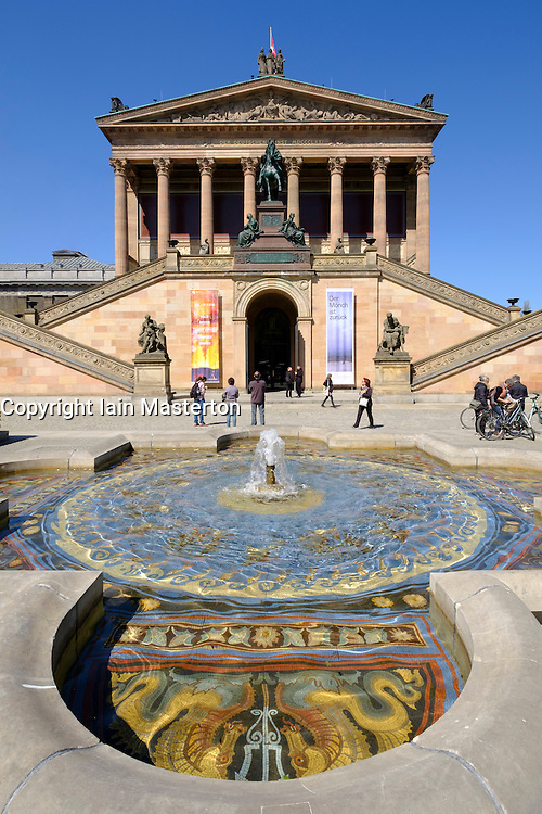 View of Alte Nationalgalerie museum on Museumsinsel (Museum Island) in Berlin Germany