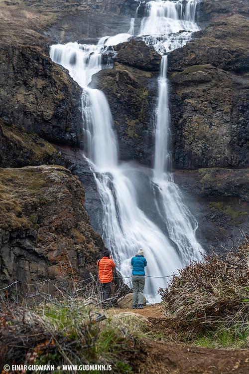 Rjukandi waterfall in East Iceland
