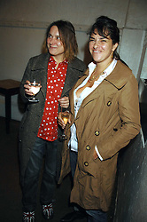 Left to right, SARAH LUCAS and TRACEY EMIN at an auction in aid of The Parkinson's Appeal for Deep Brain Stimulation 'Meeting of Minds' held at Christie's, King Street, London SW1 followed by a dinner at St.John, 26 St.John Street, London on 16th October 2007.<br />