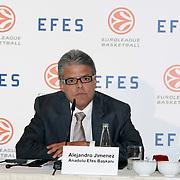 Alejandro Jimenez Anadolu Efes Beer Group President Efes Pilsen and Euroleague Basketball Press Conference at Ciragan Palace Kempinksi at Istanbul, Turkey 09 May 2012. Photo by TURKPIX