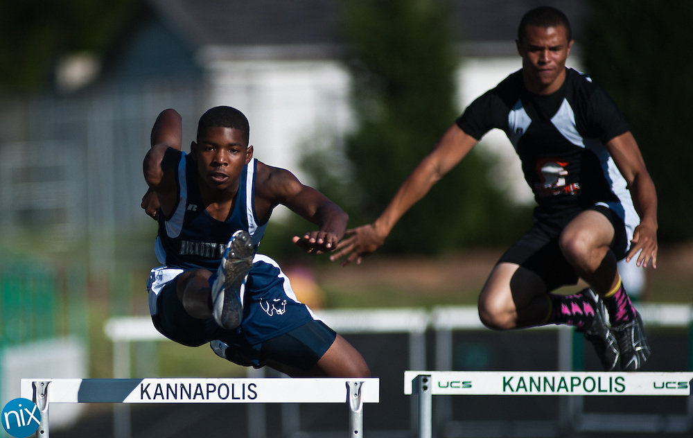 during the South Piedmont Conference track and field championships at A.L. Brown High School in Kannapolis Wednesday afternoon. (Photo by James Nix)
