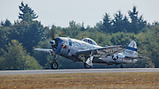 Republic P47 Thunderbolt of the Flying Heritage Collection on takeoff roll.