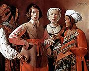 Georges de La Tour (1593 –  1652) French painter.  The Fortune Teller 1633-39.