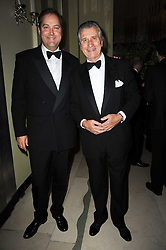 Left to right, the HON.HARRY HERBERY and MR ARNAUD BAMBERGER at the Cartier Racing Awards 2009 held at Claridge's, Brook Street, London on 17th November 2009.