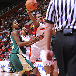 Jan 31, 2009; Piscataway, NJ, USA; Rutgers guard Epiphanny Prince (10) reaches to save a ball from going out of bounds during the first half of South Florida's 59-56 victory over Rutgers in NCAA women's college basketball at the Louis Brown Athletic Center
