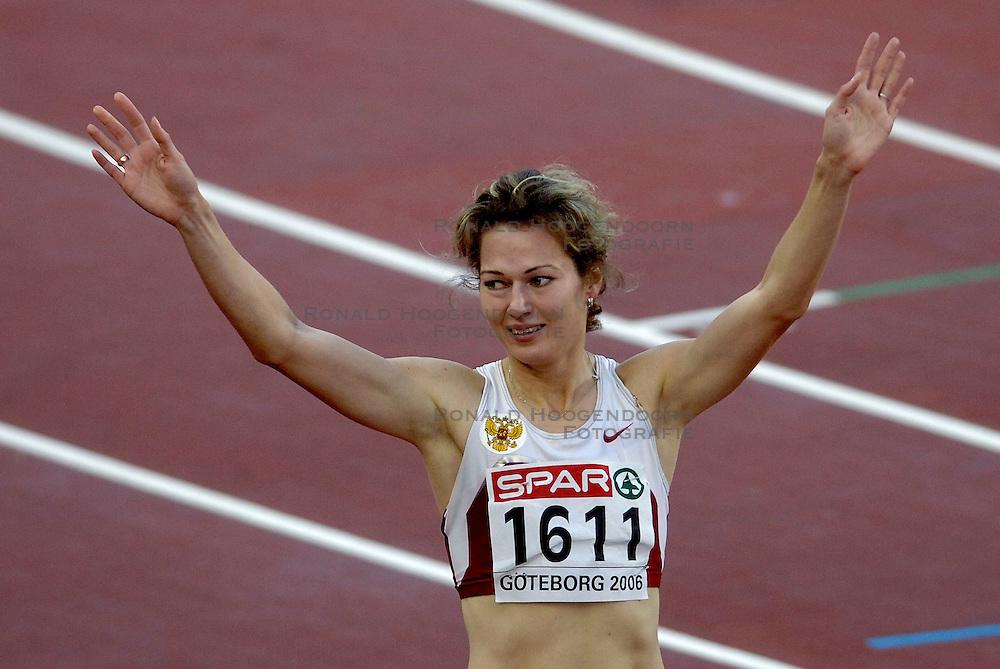 10-08-2006 ATLETIEK: EUROPEES KAMPIOENSSCHAP: GOTHENBORG <br /> Kotlyarova, Olga (RUS) wint de 800 meter<br /> ©2006-WWW.FOTOHOOGENDOORN.NL