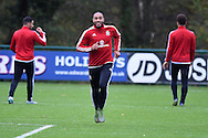 Ashley Williams of Wales during the Wales football team training at Hensol Castle, Vale of Glamorgan, South Wales on Tuesday 10th November 2015. the team are training ahead of their friendly against the Netherlands on Friday,<br /> pic by  Andrew Orchard, Andrew Orchard sports photography.