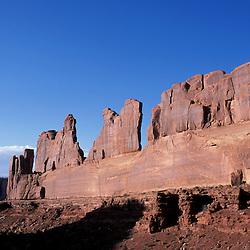 Arches National Park, UT.Entrada sandstone formations in the Utah desert.  Park Avenue Trail.