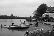 Mortlake/Chiswick. Greater London. London. 2017 Bourne Regatta At Chiswick Bridge. Course, Runs from and to Mortlake Anglian and Alpha Boathouse, dependent on the Tide Direction. Chiswick.  River Thames. <br /> <br /> General view, Mortlake Anglian and Alpha and Quintin BC Boathouse and foreshore.<br /> <br /> Saturday  06/05/2017<br /> <br /> [Mandatory Credit Peter SPURRIER/Intersport Images]
