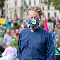 Rev. Aaron Kennedy, of St Mary's Battersea, London, joined many other people of faith including Christian Climate Action during mass protests and civil disobedience in central London, urging the government to take action on climate change.