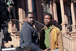 """EXCLUSIVE: Oscar winner Best Picture (Moonlight 2017) Barry Jenkens films """"If Beale Street Could Talk"""". 19 Oct 2017 Pictured: Brian Tyree Henry,Stephan James. Photo credit: SteveSands/NewYorkNewswire/MEGA TheMegaAgency.com +1 888 505 6342"""