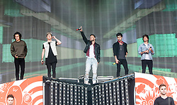 One Direction opens on the main stage. Saturday at Glasgow Green, BBC Radio 1's Big Weekend Glasgow 2014.