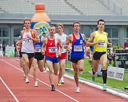 30-07-2011 ATLETIEK: NK OUTDOOR: AMSTERDAM<br /> (L-R) Jurjen Polderman, Tijs Groen, Rene Stokvis, Bram Som series 1500 meter mannen<br /> ©2011-FotoHoogendoorn.nl / Peter Schalk
