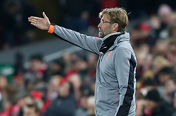March 6, 2018 - Liverpool, U.S. - 6th March 2018, Anfield, Liverpool, England; UEFA Champions League football, round of 16, 2nd leg, Liverpool versus FC Porto; Jurgen Klopp, Liverpool manager directs his players from the technical area (Photo by Dave Blunsden/Actionplus/Icon Sportswire) ****NO AGENTS---NORTH AND SOUTH AMERICA SALES ONLY****NO AGENTS---NORTH AND SOUTH AMERICA SALES ONLY* (Credit Image: © Dave Blunsden/Icon SMI via ZUMA Press)