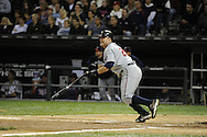 CHICAGO - SEPTEMBER 16:  Jim Thome #25 of the Minnesota Twins connects for an RBI single in the second inning against the Chicago White Sox on September 16, 2010 at U.S. Cellular Field in Chicago, Illinois.  The Twins defeated the White Sox 8-5.  (Photo by Ron Vesely)