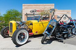 Dirtybird Customs shop during Arizona Bike Week 2014. USA. Wednesday, April 3, 2014.  Photography ©2014 Michael Lichter.