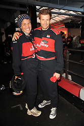 TOM & AMBER AIKENS at an evening of go-karting hosted by Tag Heuer at Docklands Raceway, 3 Herringham Road, London SE7 on 16th June 2010.