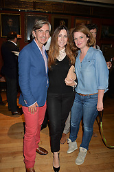 Left to right, DIMITRI HORNE, MELINA HORNE and BRIDIE HALL at a party to celebrate the publication of English Houses by Ben Pentreath held at the Art Worker's Guild, 6 Queen Square, London on 28th September 2016.
