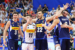 L'ITALIA ESULTA<br /> VNL MILANO ITALIA - POLONIA<br /> PALLAVOLO VNL 2019 VOLLEYBALL NATIONS LEAGUE<br /> MILANO 23-06-2019<br /> FOTO FILIPPO RUBIN