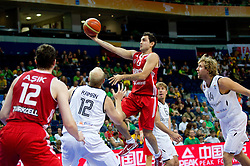Ender Arslan of Turkey during basketball game between National basketball teams of Germany and Turkey at FIBA Europe Eurobasket Lithuania 2011, on September 9, 2011, in Siemens Arena,  Vilnius, Lithuania.  (Photo by Vid Ponikvar / Sportida)