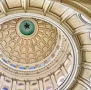 USA, Texas, Austin. Looking up at the dome of the Texas state capitol building.