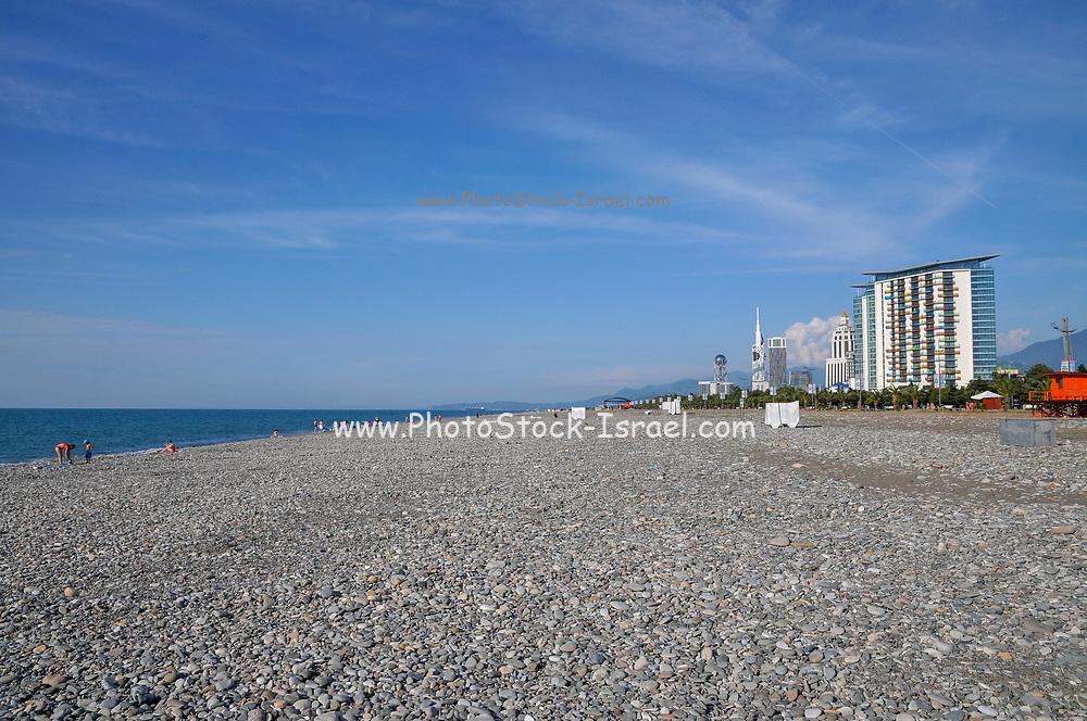 Pebbles on Batumi Beach. Batumi, Adjara, Georgia