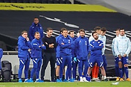 Chelsea bench watch on for the penalty shoot out during the EFL Cup Fourth Round match between Tottenham Hotspur and Chelsea at Tottenham Hotspur Stadium, London, United Kingdom on 29 September 2020.
