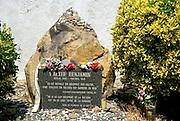 Walter Benjamin monument, Portbou, Costa Brava, Catalonia, Spain.