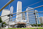 The Jay Pritzker pavilion at Millennium Park.