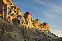 First light on the volcanic spires of Succor Creek State Park in the Owyhee Uplands of SE Oregon
