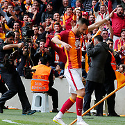 Galatasaray's Yasin Oztekin celebrate his goal during their Turkish Super League soccer match Galatasaray between Kardemir Karabukspor at the AliSamiYen Spor Kompleksi TT Arena at Seyrantepe in Istanbul Turkey on Sunday, 05 April 2015. Photo by Aykut AKICI/TURKPIX