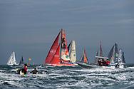 Fleet during the Route du Rhum 2018 race start in Saint Malo, France, on November 4th, 2018 - Photo Olivier Blanchet / ProSportsImages / DPPI