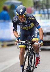 23.05.2013, Mori, ITA, Giro d Italia 2013, 18. Etappe, Mori nach Polsa, im Bild Rafal Majka, POL, (Team Saxo - Tinkoff) // during Giro d' Italia 2013 at Stage 18 from Mori to Polsa, Italy on 2013/05/23. EXPA Pictures © 2013, PhotoCredit: EXPA/ R. Eisenbauer
