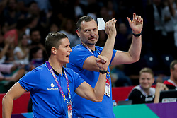 Jaka Lakovic, assistant coach of Slovenia, Rado Trifunovic, assistant coach of Slovenia during basketball match between National Teams of Slovenia and Spain at Day 15 in Semifinal of the FIBA EuroBasket 2017 at Sinan Erdem Dome in Istanbul, Turkey on September 14, 2017. Photo by Vid Ponikvar / Sportida