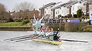 Putney - Chiswick, London,  Great Britain.<br /> Cambridge celebrate.<br /> 2016 University Boat Race, Oxford vs Cambridge, Putney. Putney  to Mortlake, Championship Course. River Thames.<br /> <br /> Sunday  27/03/2016 <br /> <br /> [Mandatory Credit; Peter SPURRIER/Intersport-images]