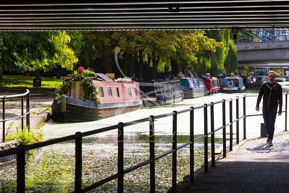 According to the Met Office, August 31st marks the last day of summer and there certainly is a bit of a nip in the air around Little Venice in London as sunshine illuminates boats moored on the canalside near Paddington Basin. London, August 31 2018.
